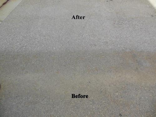 Rust Stain Removal on Asphalt