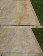 Golf Cart Battery Acid Stain Removal Before