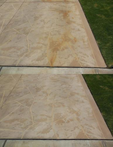 Rust Removal on Pool Deck Coatings