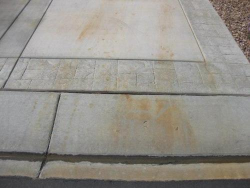 Battery Acid Stain on Concrete Before