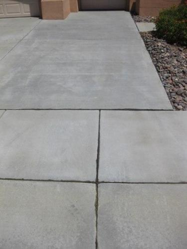 Battery Acid Stain on Concrete After