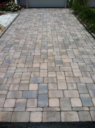 Battery Acid Stains on Pavers After