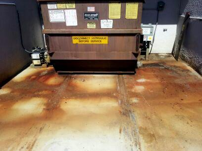 Dumpster Pad Cleaning Before