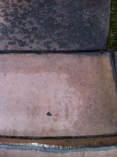 Battery Acid Stains on Colored Concrete After