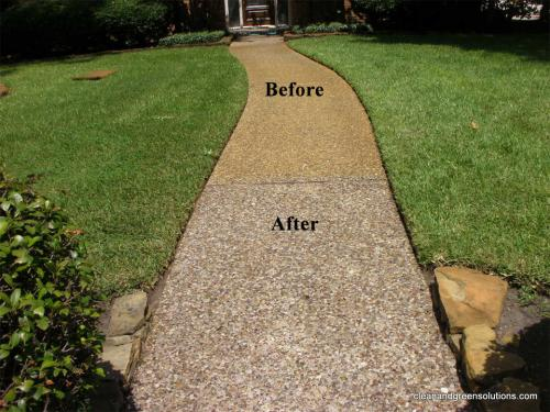 Walkway Before/After www.cleanandgreensolutions.com